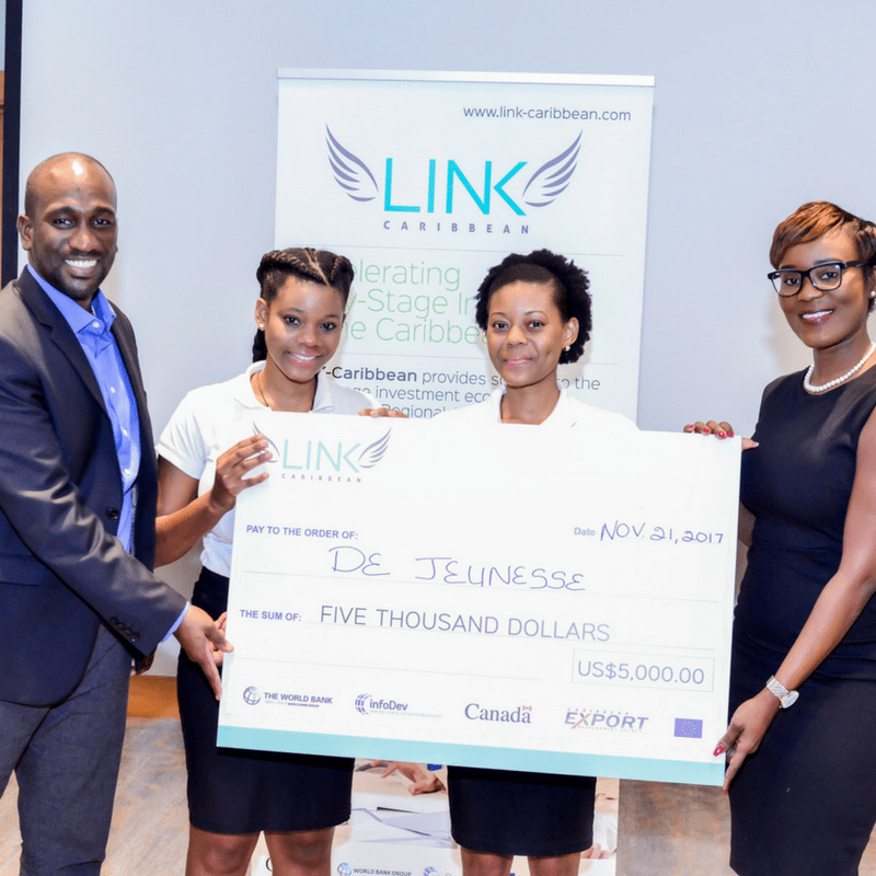 Thumnail image for De Jeunesse Bath and Body Products wins top $5,000 USD prize at LINK-Caribbean Pitch Competition